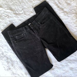J crew black corduroy pants